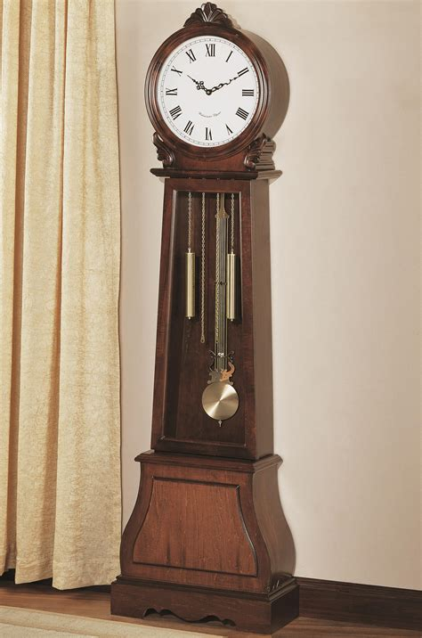 coaster grandfather clocks 900723 brown traditional grandfather clock with chime northeast