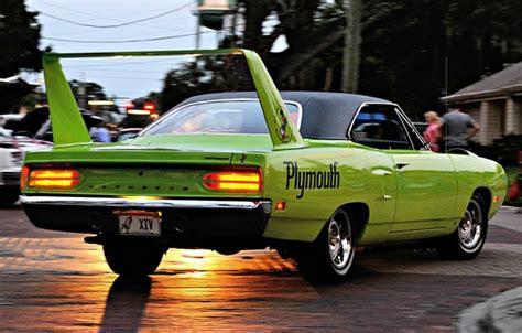 Wallpaper Plymouth, Superbird, Road Runner, '1970, Engine
