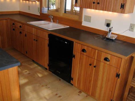 Douglas Fir Beadboard Cabinets  Traditional Kitchen