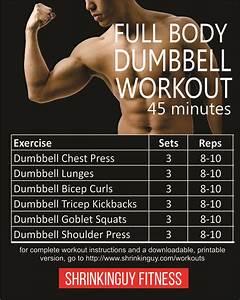45 Minute Full Body Dumbbell Workout For Beginners
