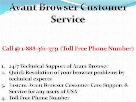 avant browser customer service 1 888 361 3731 toll free