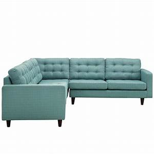 Empress 3 piece fabric sectional sofa set in laguna for Empress 3 piece fabric sectional sofa set
