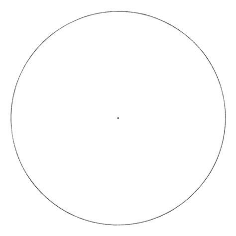 Blank Mandala Circle Template