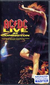 AC/DC - Live At Donington (Video Tapes) Rare Records