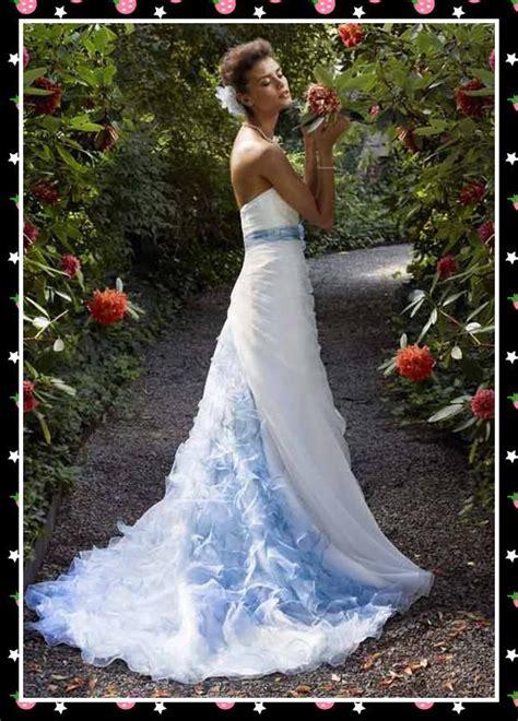 designers white blue bridal wedding dresses strapless