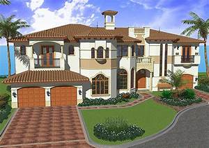 Mediterranean, House, Plan, With, All, The, Bells, And, Wh