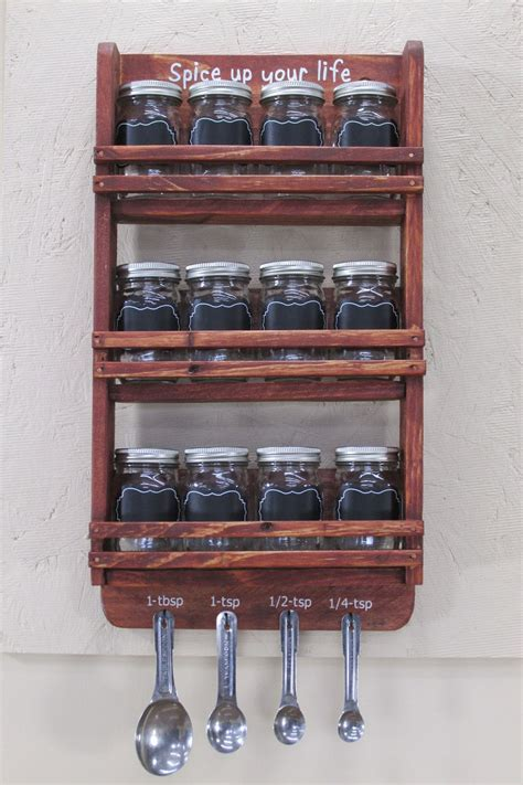 Upright Spice Rack by 16 Practical Handmade Spice Rack Ideas That Will Help You