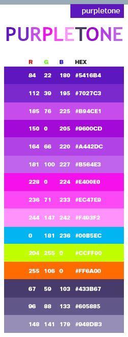 purple color code purple color schemes purple colors and crochet on