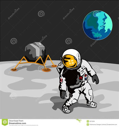 astronaut on moon clipart astronaut walking on the moon royalty free stock image