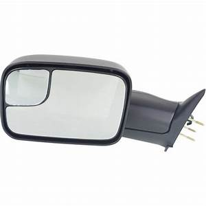 New Left Side Manual Mirror Textured For Dodge Ram 2500