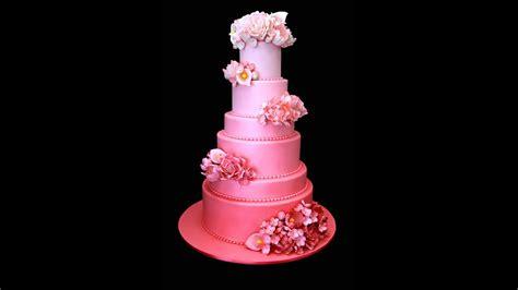 Pink Ombré Wedding Cake Youtube
