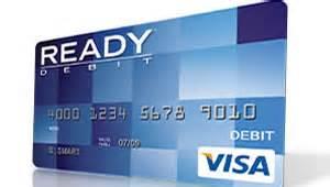 readydebit control  prepaid debit cards