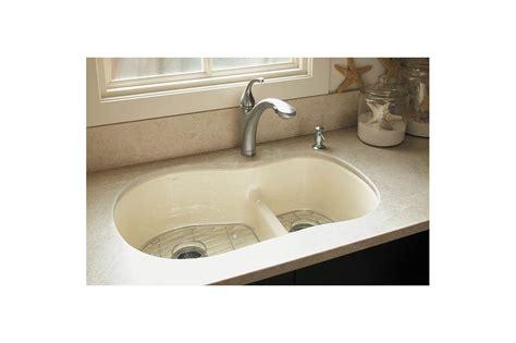 3 basin kitchen sink faucet k 10433 bn in brushed nickel by kohler 3850