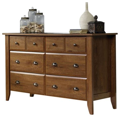 sauder shoal creek dresser  oiled oak transitional