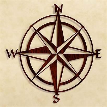 Compass Metal Rose Wall Nautical Tattoo Outdoor