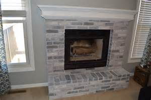 Whitewashing Fireplace Brick by How To Whitewash Brick Our Fireplace Makeover Loving Here