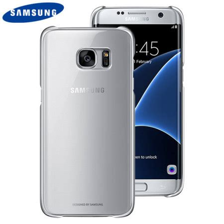 official samsung galaxy s7 edge clear cover silver