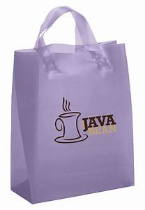 Plastic shopping bags with logo