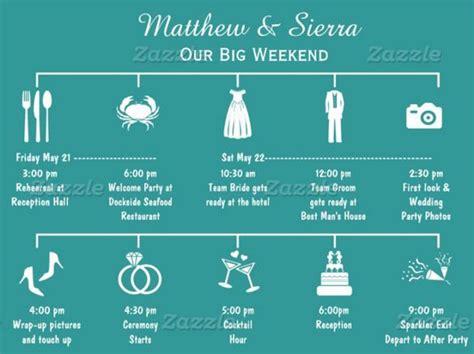 wedding itinerary templates   psd wedding