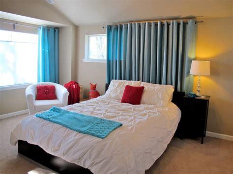 Blukatkraft Simple Bedroom Makeover White, Turquoise & Red