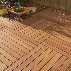 Support Terrasse Bois : dalle bois akola x cm x mm leroy merlin ~ Premium-room.com Idées de Décoration