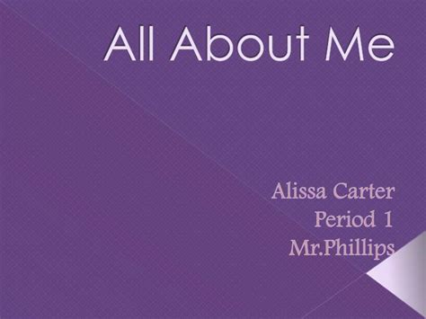 PPT - All About Me PowerPoint Presentation, free download - ID:1621904