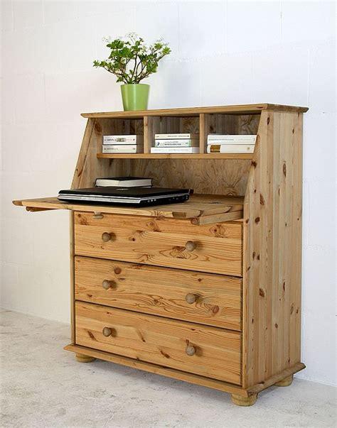Für jugendliche und kinder eignet sich ein einzelbett, hochbett oder ein etagenbett welches ihnen. Massivholz Sekretär Kiefer massiv mit Kugelfüße Holzknöpfe Schreibschrank | eBay