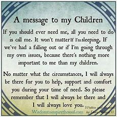 A Message To My Children Pictures, Photos, And Images For