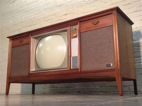 vintage tv stereo cabinet mid century zenith color television stereo console radio