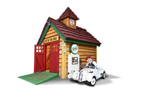 fast filling station outdoor luxury kids playhouse