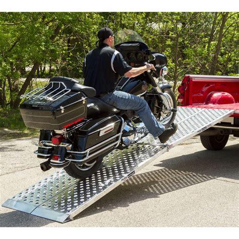 big boy ez rizer aluminum  piece folding motorcycle ramp