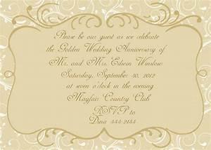 anniversary invitations golden wedding anniversary With wedding anniversary invitation template online