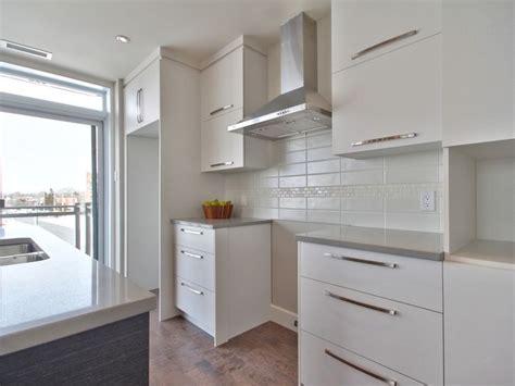 hotte de cuisine stainless cuisine moderne avec comptoir de quartz facile d 39 entretien