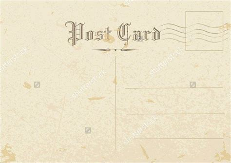 printable postcard templates    images