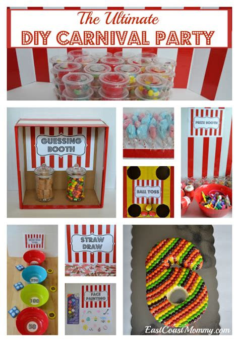 East Coast Mommy The Ultimate Diy Carnival Party