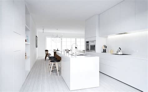wit design interieur atdesign nordic style minimalist kitchen in white