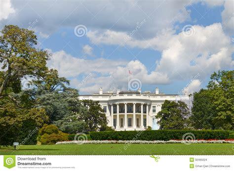 het witte huis in amerika het witte huis washington dc verenigde staten stock