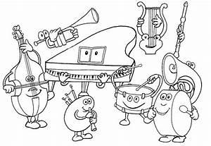 Dibujos Para Pintar Ninos Tocando Instrumentos Musicales