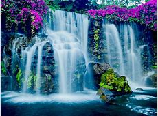 Beautiful Blue Waterfall In Hawaii Wallpapers13com