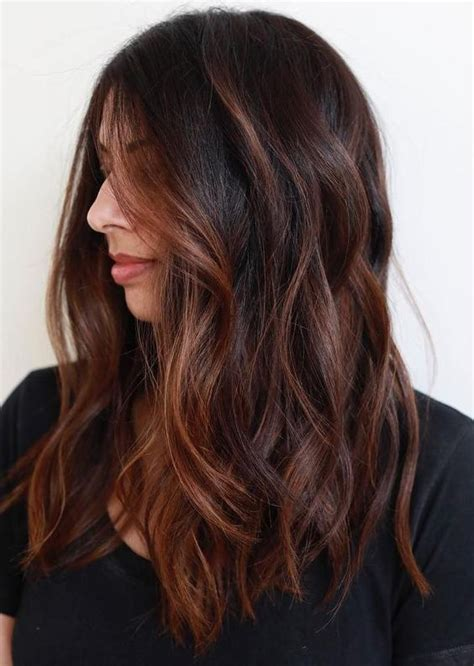 Brown Hair With Black by Highlights Ideas For Brown And Black Hair