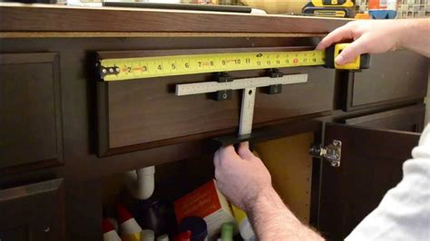tools needed to install kitchen cabinets cabinet hardware install youtube