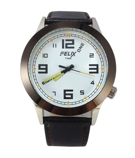 59% Off On Felix Time White Square Wrist Watch For Men On
