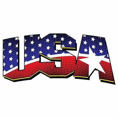 Flag Usa Cliparts Clipart America Don Single
