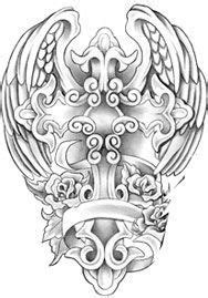 Angel Wings Tattoo Gallery | 50 Cross Tattoos | Tattoo Designs of Holy Christian, Celtic and