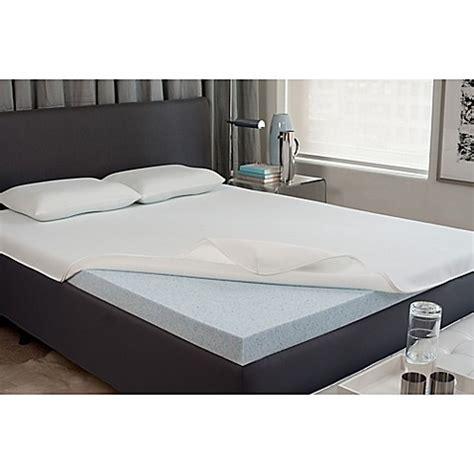 bed bath and beyond mattress topper viscofresh 174 2 inch gel memory foam mattress topper bed