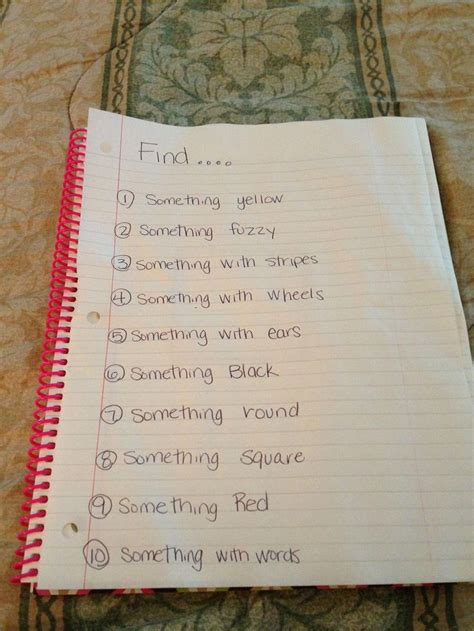 indoor scavenger hunt  younger kids   year