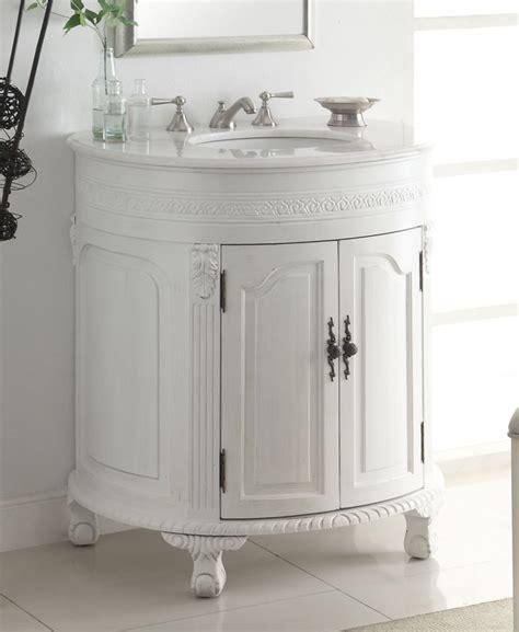 white single bathroom vanity adelina 32 inch antique white single sink bathroom vanity