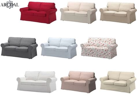 Ikea Ektorp Cover Two Seat Sofa , In Various Colours