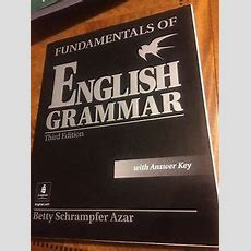 Fundamentals Of English Grammar By Stacy A Hagen And Betty Schrampfer Azar 201 0137071698 Ebay