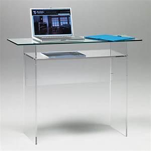Console Verre Fly : bureau console plexiglass ~ Teatrodelosmanantiales.com Idées de Décoration